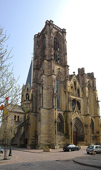 Rouffach - The church in Rouffach