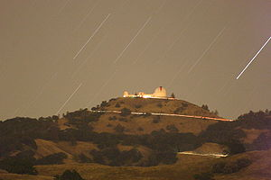 Nicholas Mayall - The Lick Observatory at night.