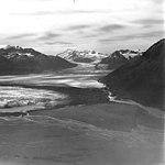 Knik Glacier, terminus of valley glacier, August 21, 1960 (GLACIERS 5006).jpg