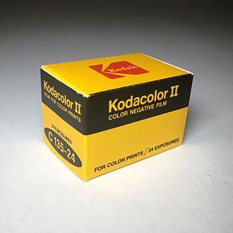 Kodacolor (still photography) - Kodacolor II C 135-24 boxed fim, ca. 1980