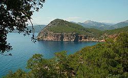 Korsan Koyu Peninsula near Antalya
