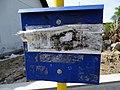 Kosova Hora, žel. st., plesnivý jízdní řád.jpg