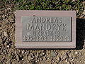 Kriegsopferfriedhof Kloster Arnsburg Grabstein Andreas Mandryk, Ukrainer.JPG