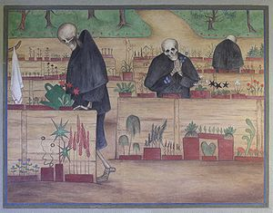 The Garden of Death - The Garden of Death as a fresco, Tampere Cathedral
