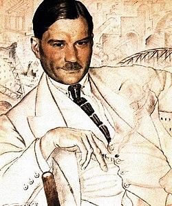 Portrait par Boris Koustodiev, 1923