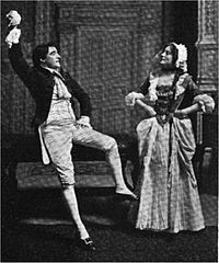 Kyrle Bellew and Eleanor Robson in She Stoops to Conquer.jpg