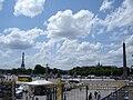 L'Obélisque, Grand Palais et Tour Eiffel - panoramio.jpg