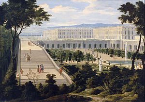 Versailles Orangerie - View of the Orangerie in 1695 as painted by Étienne Allegrain and Jean-Baptiste Martin