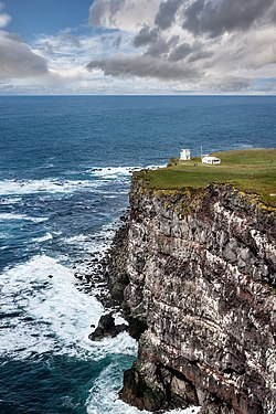 The cliffs of Látrabjarg, westernmost edge of Europe