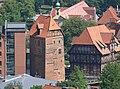 Lüneburg Abtswasserkunst und Lüner Mühle vom Wasserturm.jpg