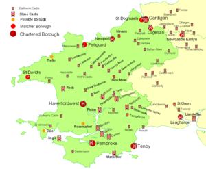 Landsker Line - Norman castles and boroughs in southwest Wales