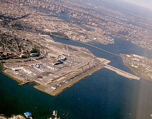 An aerial view of LaGuardia Airport
