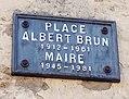 La Chaudière - Place Albert Brun (plaque).jpg