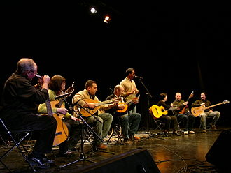 Rondalla - Valencian folk ensemble 'La Rondalla de la Costera' performing live in Dénia