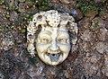 La petraia, fontana con mascherone sotto scalinata del giardino 02.JPG