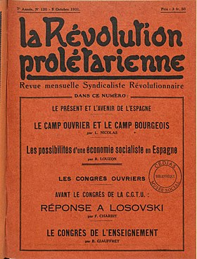 Image illustrative de l'article La Révolution prolétarienne