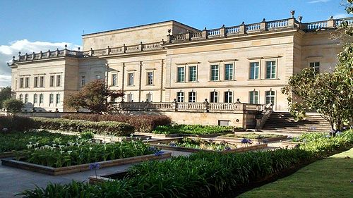 Casa de Narino is the official home and principal workplace of the President of Colombia. Lado sur Casa de Narino.jpg