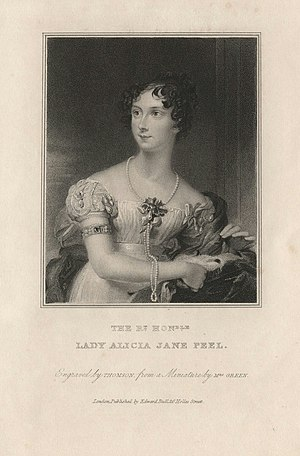 Jonathan Peel - Image: Lady Alice Jane Peel after Mary Green