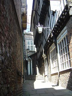 Snickelways of York Small streets and footpaths in York, England