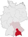Lage des Regierungsbezirkes Oberbayern in Deutschland.png