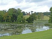 Lake at Stowe Landscape Garden with Temple in distance - geograph.org.uk - 77696