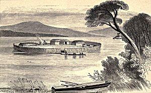 Lough Scur - Illustration of (crannog)