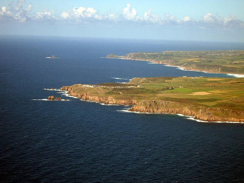 Land's End Aerial Photo Wikimedia Commons: Tom Corser