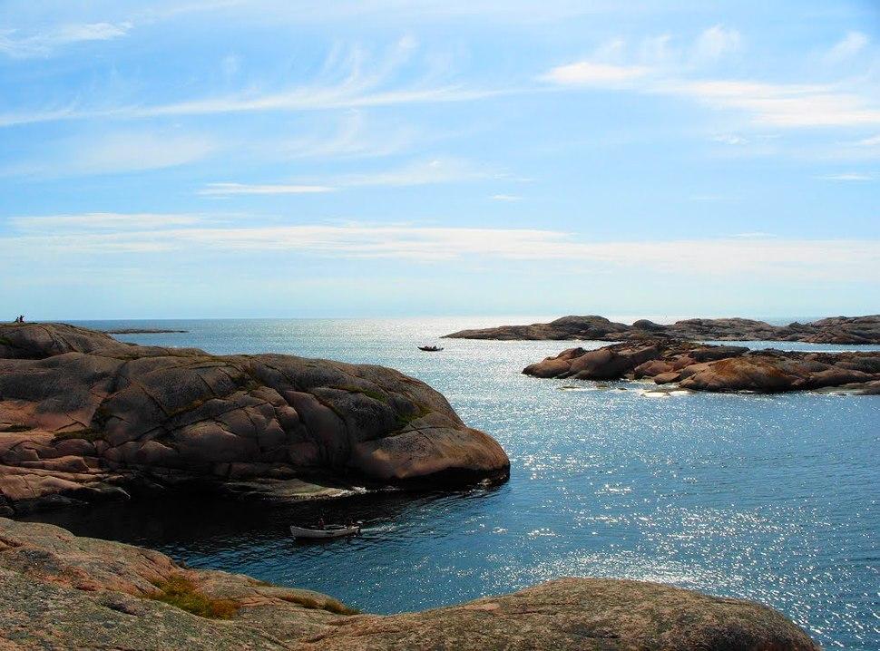 Landscape on Smögen Island, Bohuslän province (Sweden)