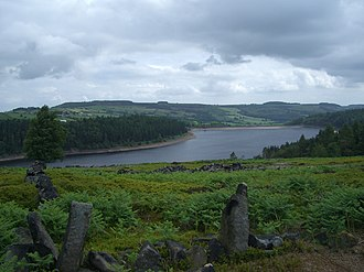 Langsett Reservoir - Seen from Hingcliff Common to the west