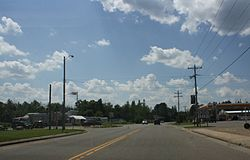 Looking west in downtown Laona