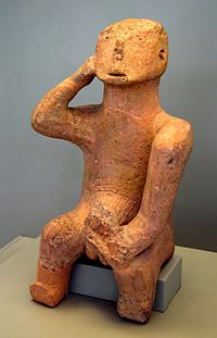 Larger terracotta Thinker Neolithic 5894 080710.jpg