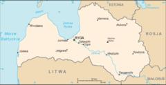 Mapa Łotwy