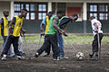 Launching of a soccer school by MONUSCO Urugayan peacekeepers in Don Bosco college Goma (14064581255).jpg