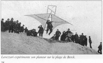 Hang gliding - Jan Lavezzari with a double sail glider