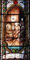 Le Bugue église vitrail Ste Scholastique détail.JPG