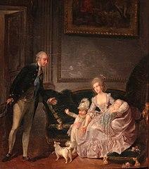 La famille du duc d'Orléans au Palais-Royal, 1776
