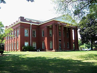 Sanford, North Carolina - The Lee County Courthouse in Sanford