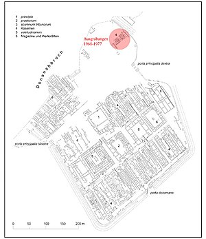 Carnuntum - Plan of legionary fortress