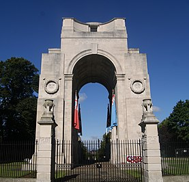 Arch of Remembrance war memorial in Leicester, Leicestershire, England