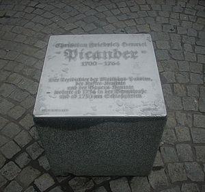 Picander - Image: Leipzig Gedenktafel Picander