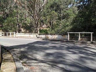 Lennox Bridge, Glenbrook - Image: Lennox Bridge surface