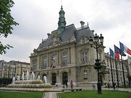 The town hall of Levallois-Perret