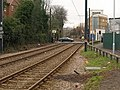 Level crossing, Merton Park Station - geograph.org.uk - 1757274.jpg