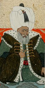 Levni. Portrait of Bayezid II. 1703-30 Topkapi Saray museum.jpg