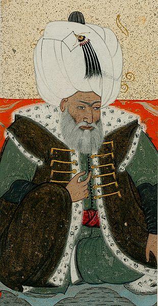 Dosya:Levni. Portrait of Bayezid II. 1703-30 Topkapi Saray museum.jpg
