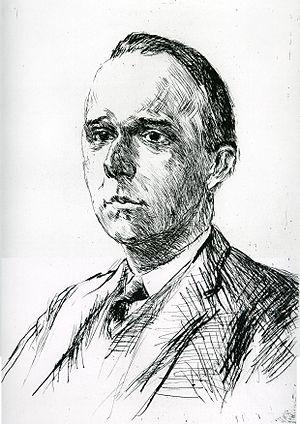 Werner Jaeger - Werner Jaeger. Lithography by Max Liebermann (1915)