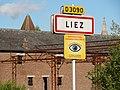 Liez (Aisne) city limit sign.JPG