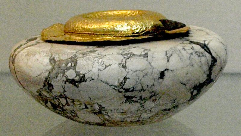 File:LimestoneVesselWithGoldCoverFromTombOfKhasekhemwy1-BritishMuseum-August21-08.jpg