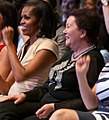 Liri Berisha with Michelle Obama at the Chicago Summit (7365526802).jpg