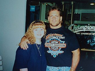 Chris Benoit - Benoit with a fan during his time in WCW
